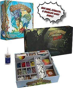 Spirit Island + Expansión de Rama y Garra + Organizador de Inserto de evacuore Ajustado + Pegamento Dorado para marmota, Paquete de Juego de Mesa.: Amazon.es: Juguetes y juegos