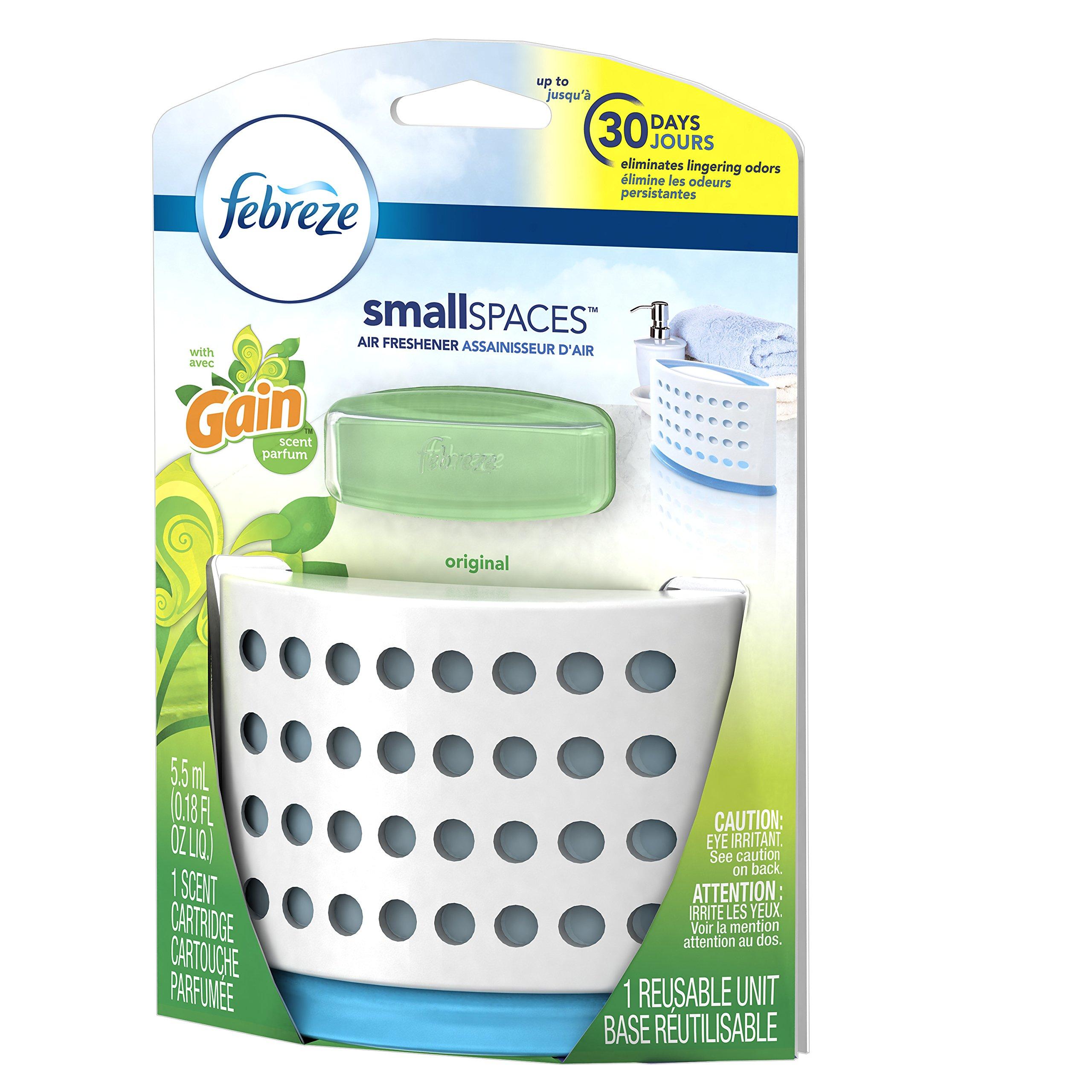 Febreze Air Freshener,  Small Spaces Air Freshener,  with Gain Original Starter Kit Air Freshener 5.5 mL(Pack of 8) by Febreze (Image #4)
