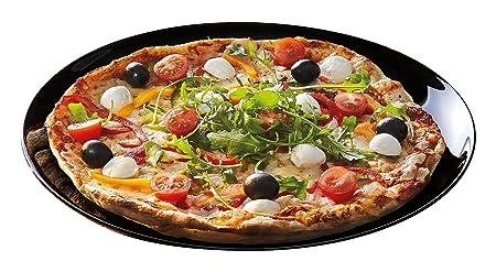 Luminarc Friends Time - Plato para pizza, 32 cm, color negro