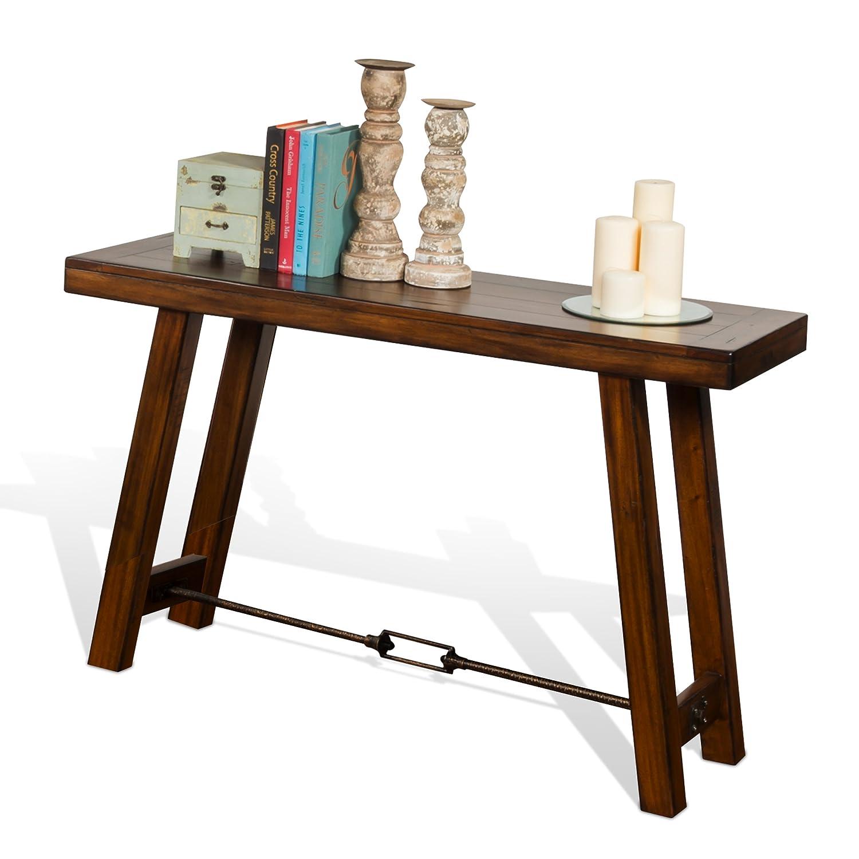 Super Sunny Designs Tuscany Console Table In Vintage Mocha Machost Co Dining Chair Design Ideas Machostcouk