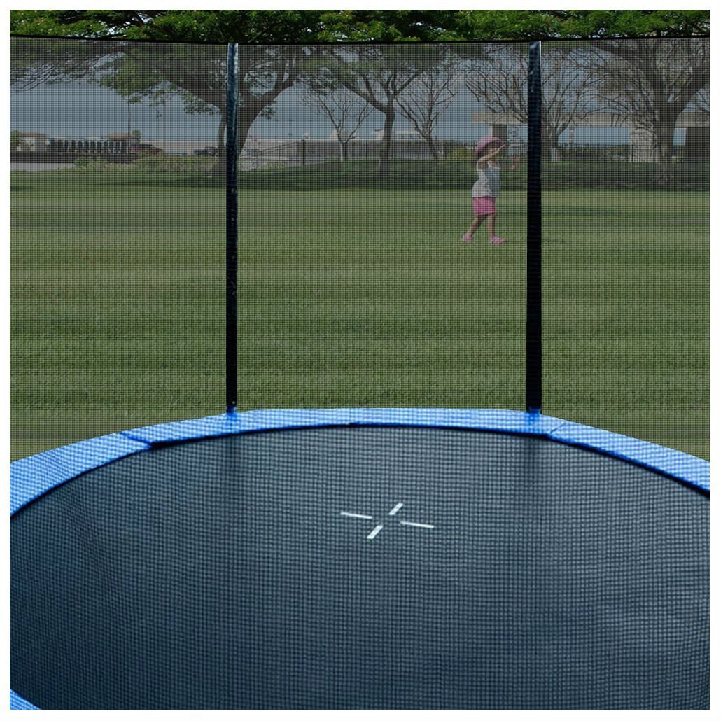 New 16 FT Trampoline Enclosure Safety Net Fence Round Replacement W/10 Poles