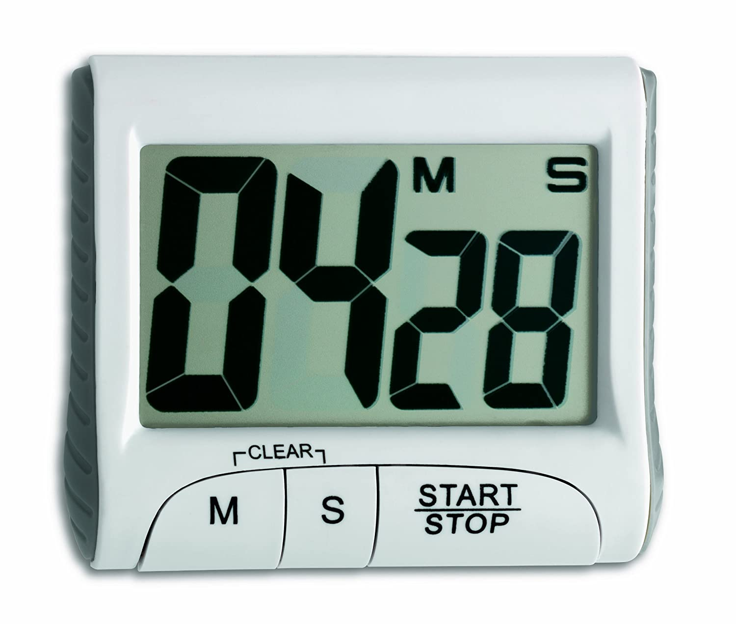 TFA Digital Countdown Timer with Stopwatch, White 38.2021.02