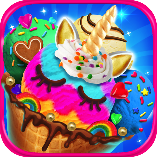 Unicorn Ice Cream & Frozen Desserts - Kids Ice Cream Maker Games FREE