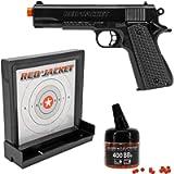Red Jacket M1911 6mm Airsoft Spring Pistol Target Pack