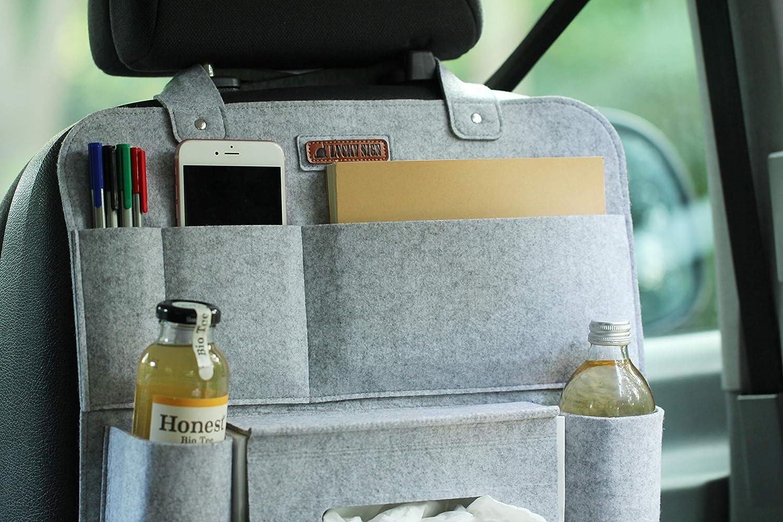 Hellgrau 62 x 41 cm LuckySign Autositz Organizer Wohnmobil Zubeh/ör Innenraum