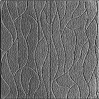 PE Foam 3D Decoratieve Lijn Wandpanelen, DIY Zelfklevende Waterdichte Muursticker Behang Voor Thuiskantoor (10St),Gray