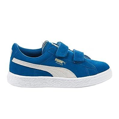 Puma Suede Classic Straps bleu et or enfant Chaussures