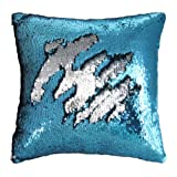 "Amazon Price History for:Mermaid Pillow Case, Play Tailor Magic Reversible Sequin Pillow Cover Throw Cushion Case 16""X16"""