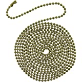 Westinghouse 7710900 12' Beaded Chain with Connector and Antique Brass Finish