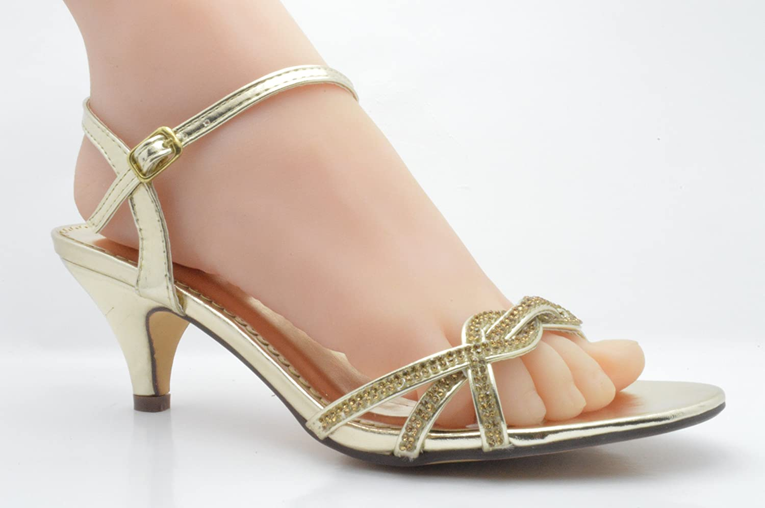 Shoeworld Sandali Donna, Oro (Gold), 42