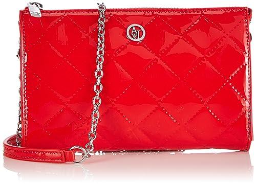 Armani Jeans Shoes & Bags DE B5V82V4 - Cartera de Mano para Mujer, Color Rojo