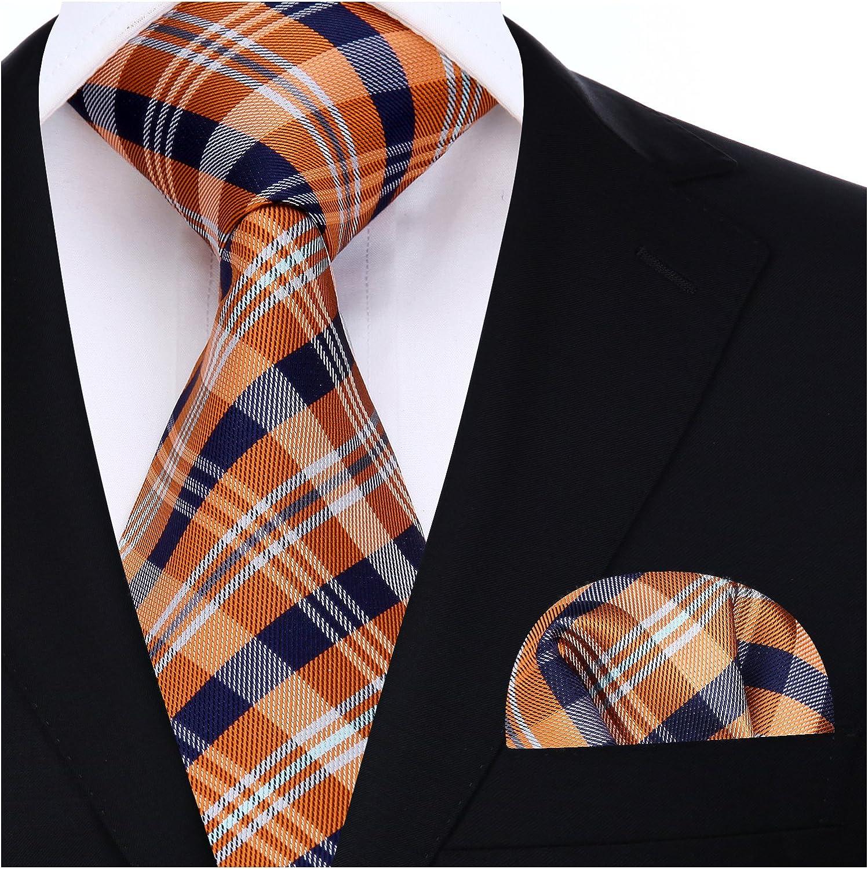 HISDERN Controllare Party Wedding Tie Fazzoletto Cravatta da uomo /& Set tascabile