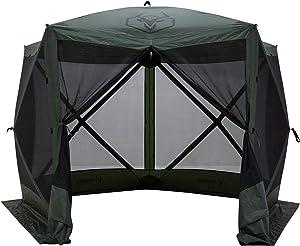 Gazelle 4 Person 5 Sided Portable Pop Up Gazebo Screened Tent