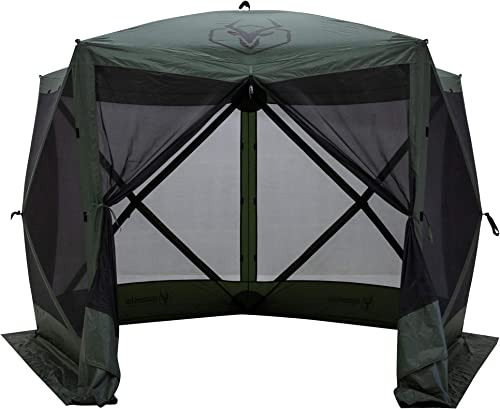 Gazelle 4 Person 5 Sided Portable Pop Up Gazebo Screened Tent