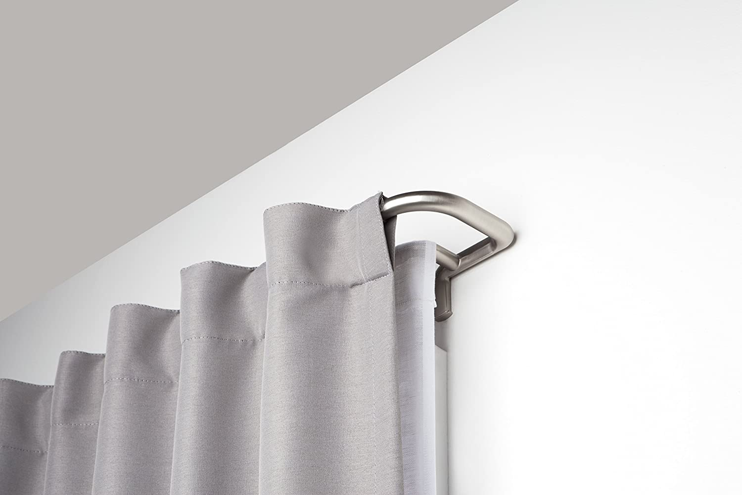 Umbra Twilight Double Curtain Rod Set – Wrap Around Design is Ideal for Blackout or Room Darkening Panels, 48-88, Nickel: Home & Kitchen