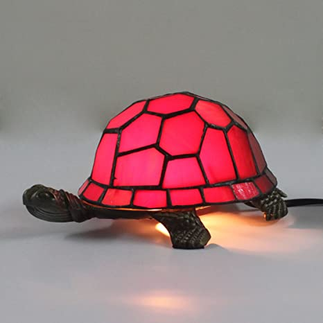 Royal Tiffany Style European Creative Red Turtle Tortoise Cuckold Table Lamp Children S Lamp Night Light Amazon Com
