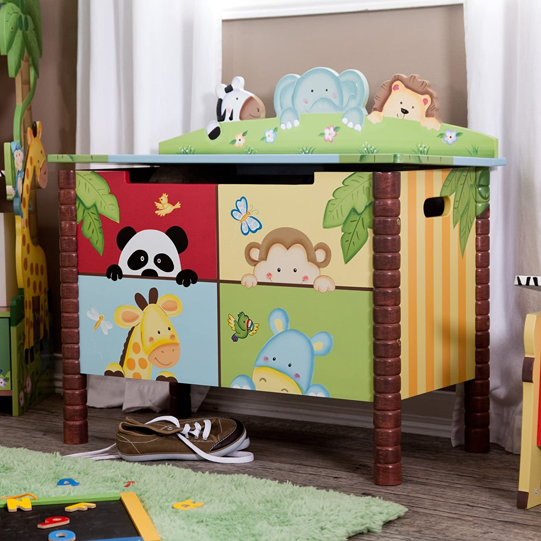 Kids wooden toy chest sunny safari - Kids Wooden Toy Chest Sunny Safari 18
