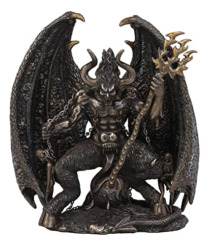 Ebros Arch Devil Satan Lucifer Morning Star Figurine Baphomet Sculpture  Fallen Angel As Dark Arts Death Occultic Macabre Underworld Decor Satanism