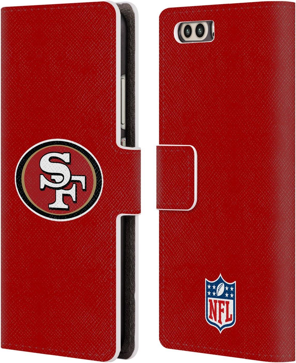 Head Case Designs Oficial NFL Claro Logotipo de San Francisco 49ers Carcasa de Cuero Tipo Libro Compatible con Huawei P10