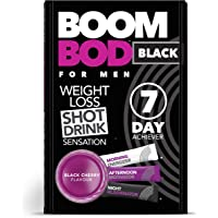 Boombod Weight Loss Shot Drink, Glucomannan, High Potency, Diet and Exercise Enhancement, Promote Fat Loss, Keto and Vegan Friendly, Sugar and Aspartame Free, Gluten-Free - Black Cherry Flavour