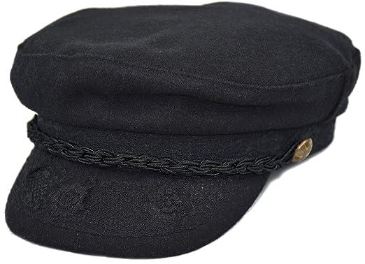 2376e7cf2b257 Deewang Men s Wool Greek Fisherman Hat Newsboy Fiddler Sailor Cap at ...