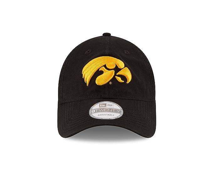 competitive price cb311 97ff8 Amazon.com   New Era NCAA Iowa Hawkeyes Unisex NCAA Core Shore Primary  9TWENTY Adjustable Cap, Black, One Size   Sports   Outdoors