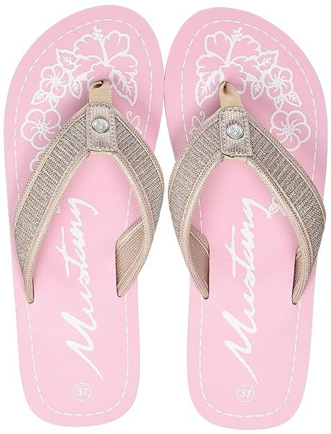 Mustang Damen Pantoletten Rosa: : Schuhe & Handtaschen