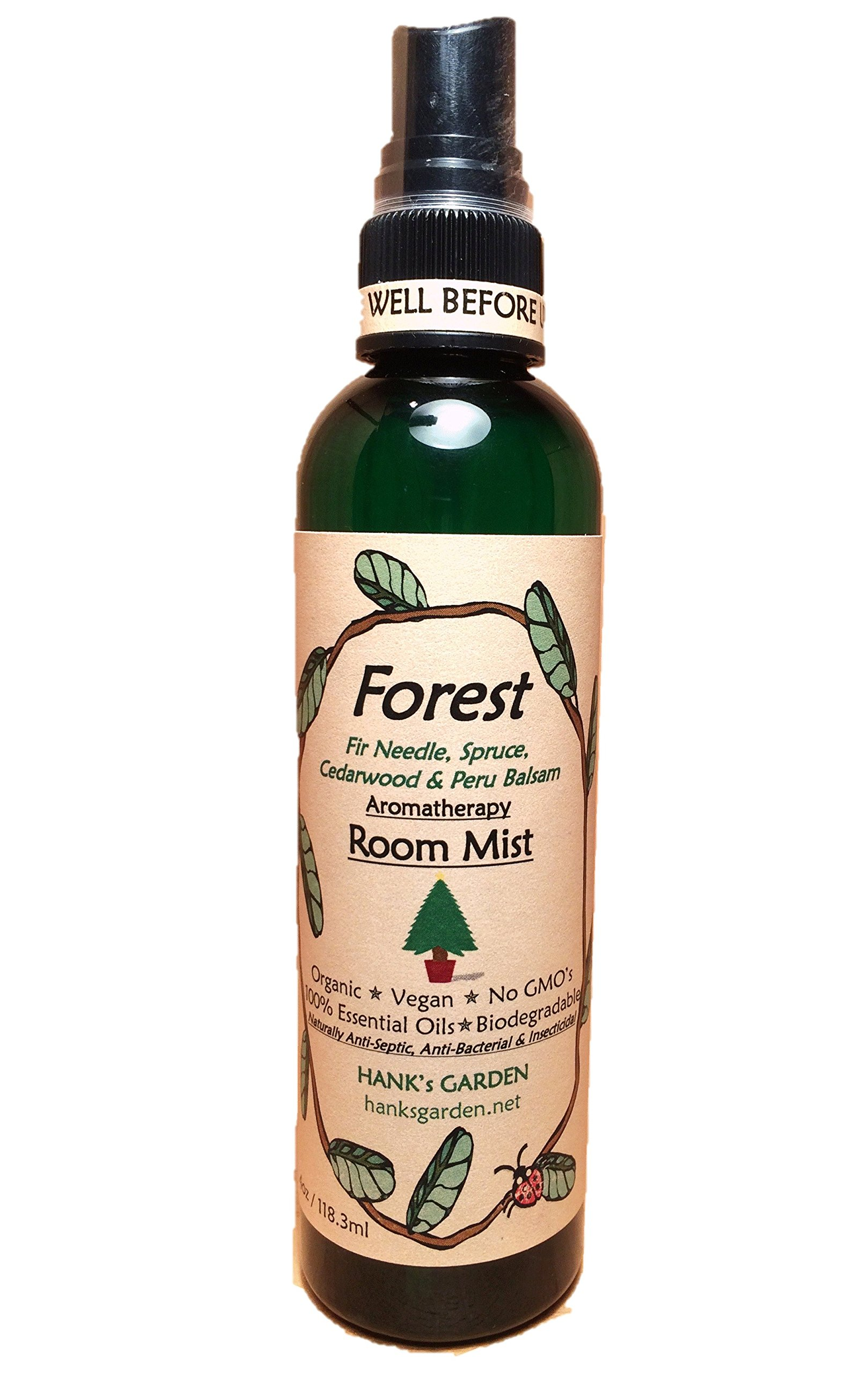 FOREST Aromatherapy Room Spray Mist - Fir Needle, Spruce, Cedarwood & Peru Balsam - Smells like Cut CHRISTMAS TREES - All Natural - EARTH FRIENDLY - Vegan - Organic - Biodegradable - Non GMO (4 oz)
