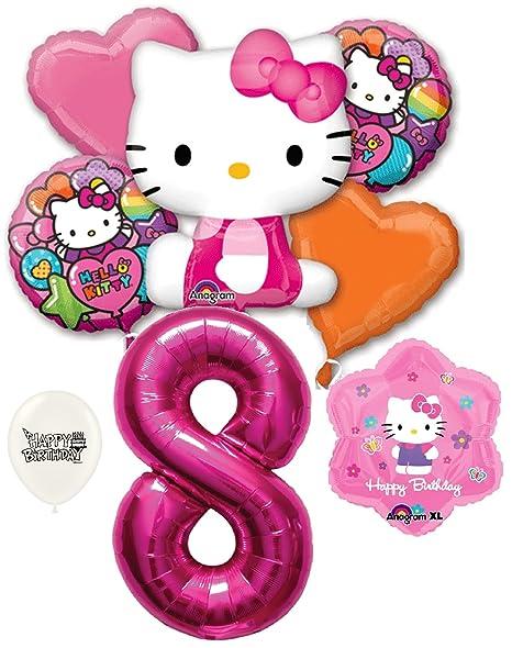 Amazon 8th Birthday Hello Kitty Rainbow Party Decorations
