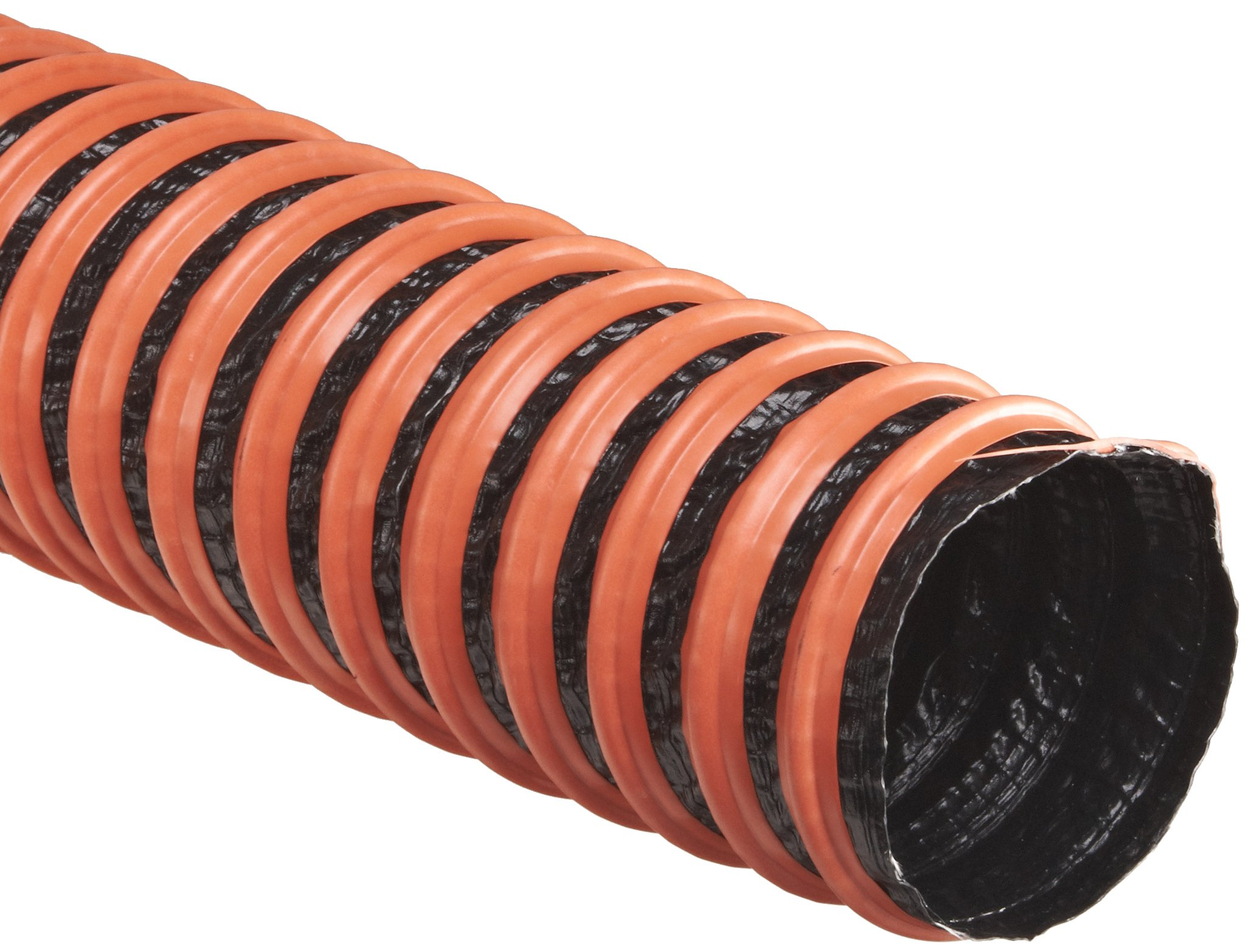 Flexaust FSP-1 Polyester Duct Hose, Black, 10'' ID, 25' Length