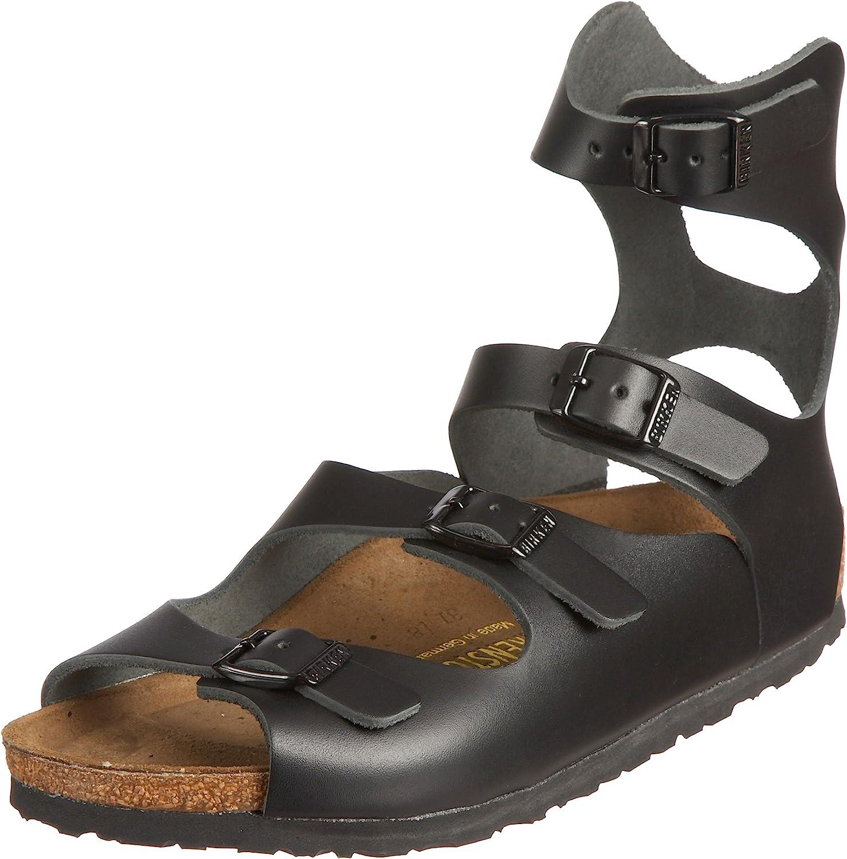 Birkenstock Seasonal Indianapolis Mall Wrap Introduction Athen Black Leather Width Regular Sandals