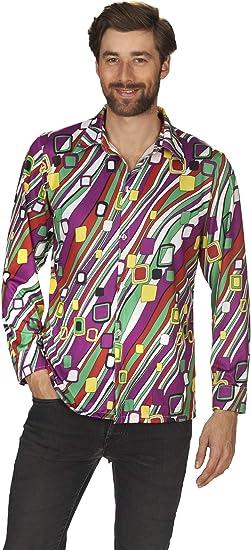 Andrea Moden 592 – 54/56 adultos Disfraz Retro Camisa para hombre, multicolor, 54/56 , color/modelo surtido: Amazon.es: Juguetes y juegos