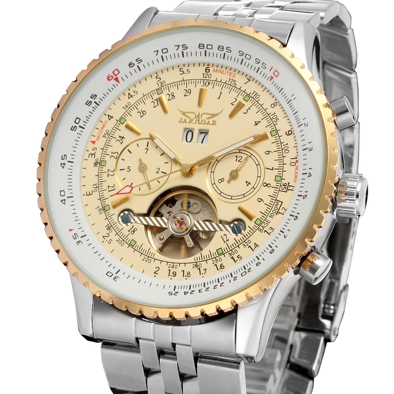 Forsining Tourbillon automático Hombre Completo Calendario Reloj de Pulsera JAG034 M4T1: Amazon.es: Relojes