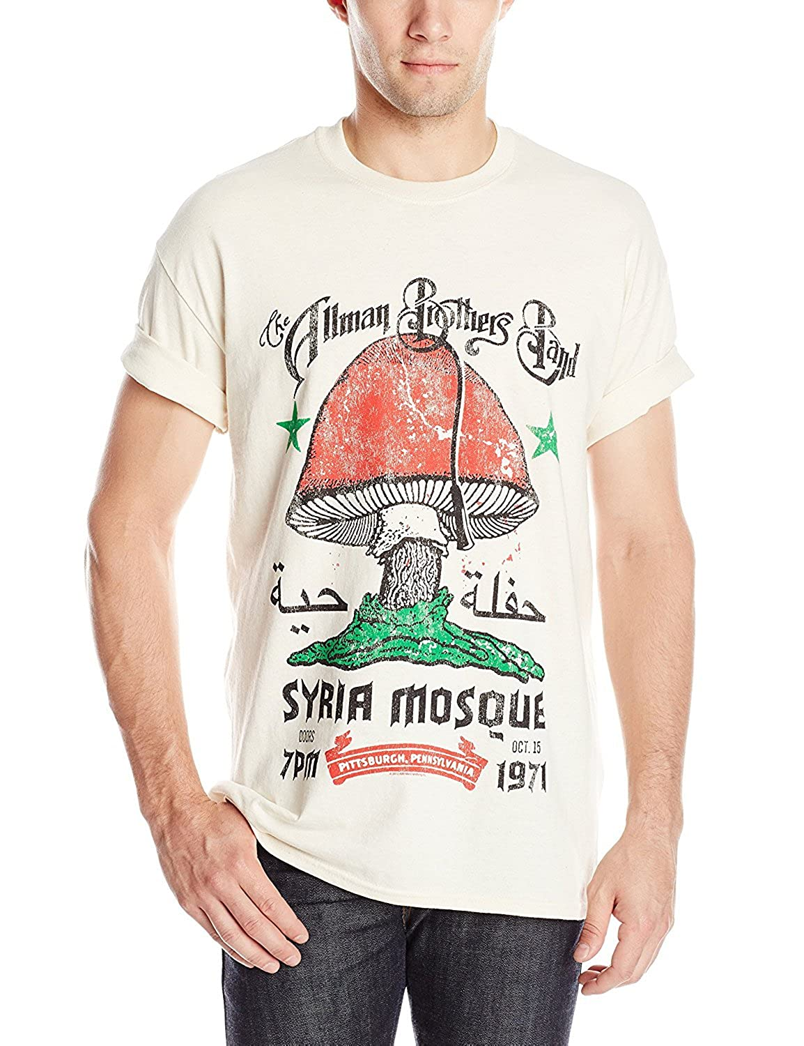 b0264466f Amazon.com: DressCode The Allman Brothers Band Syria Mosque Mens Regular T- Shirt: Clothing