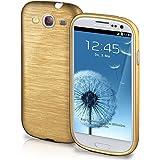 Funda protectora OneFlow para funda Samsung Galaxy S3 / S3 Neo Carcasa silicona TPU 1,5mm | Accesorios cubierta protección móvil | Funda móvil paragolpes bolso cepillado aluminio diseño en Ivory-Gold