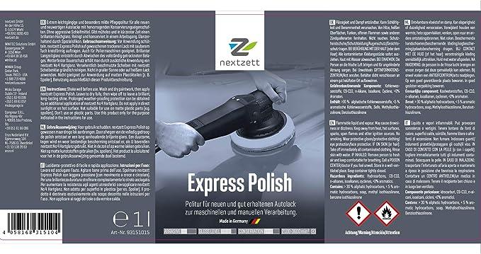 Nextzett 6x Ehem Einszett Express Polish 1000ml Auto