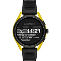 Emporio Armani Men's Quartz Digital Watch Smart Display and Rubber Strap, ART5022, Black/black