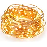 Kohree 120 Micro LED Christmas String Lights on 40 Feet Copper Wire, Seasonal Decor Rope Lights for Festival, Christmas, Wedding, Holiday and Party With UL certified 3.5V Power Adapter Warm White