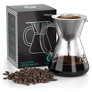 Pour-Over-Coffee-Dripper-Coffee-Gator-Paperless-Pour-Over-Coffee-Maker