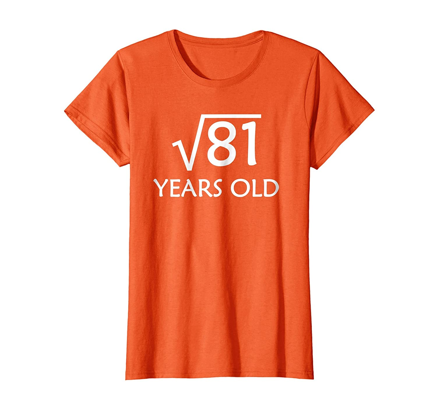 9th Birthday T Shirt  Square Root of 81   9 Years Old-Teesml