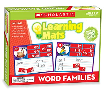 Amazon.com : Learning Mats -Word Family : Early Childhood ...