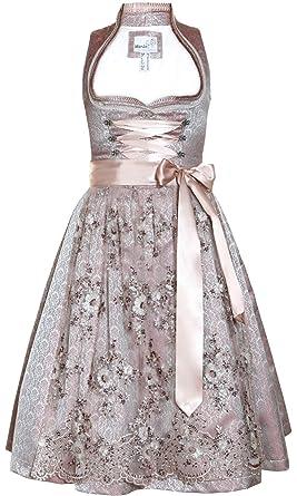 81d13b0e2a6e6b Marjo Dirndl Alena Lilac barock Ornamente glänzend (Lilac 65er Länge, 42)