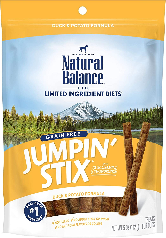 Natural Balance L.I.D. Limited Ingredient Diets Jumpin' Stix Dog Treats, Grain Free