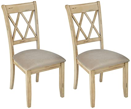 Ashley Furniture Signature Design - Mestler Dining Side Chair - Upholstered  Seat - Set of 2 - Amazon.com: Ashley Furniture Signature Design - Mestler Dining Side
