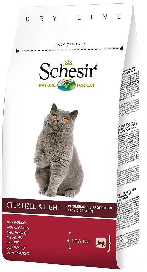 Schesir Comida Seca para Gatos Esterilizados con Pollo - 1500 gr