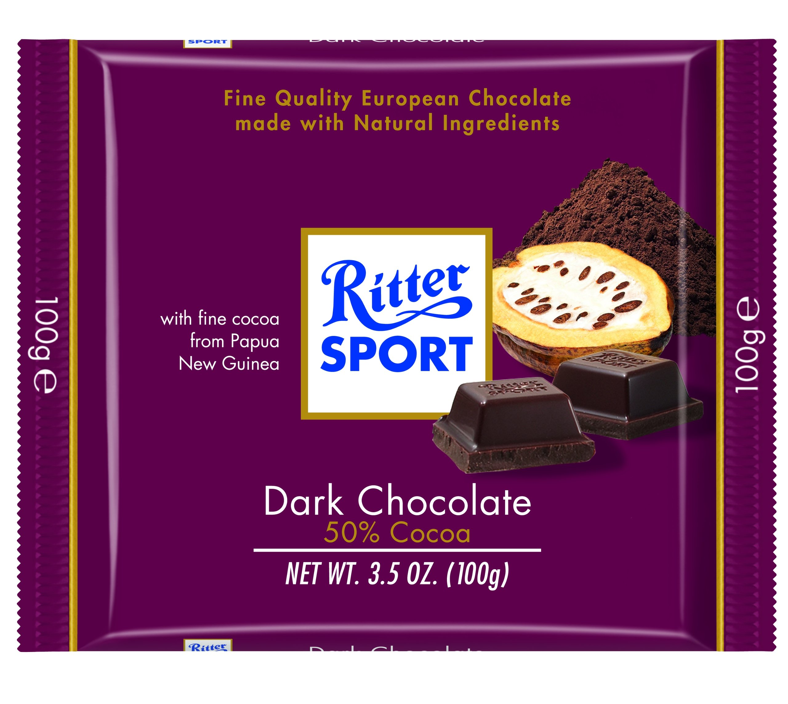 Ritter Bittersweet Chocolate, 3.5 Ounce (Pack of 12) by Ritter Sport