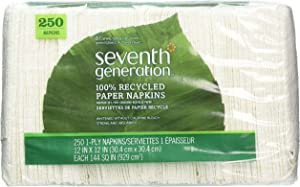 Seventh Generation 100% Recycled Napkins, Pack of 1