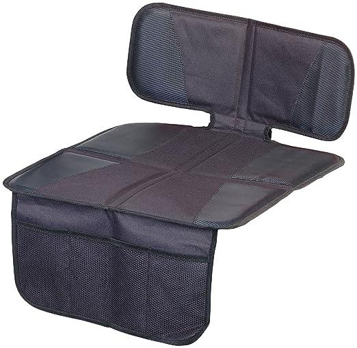 Lescars Sitzschoner Kindersitz Unterlage Basic Fürs Auto 3 Netztaschen Isofix Geeignet Kindersitzunterlage Auto Baby
