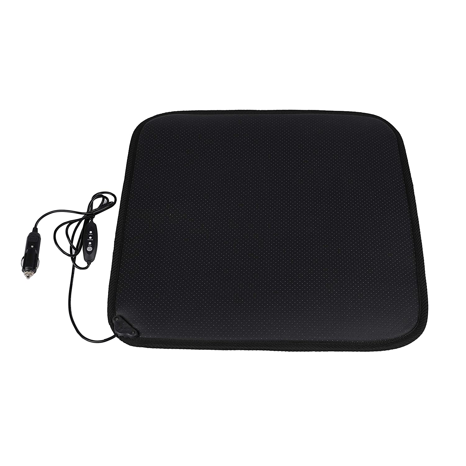 Facon 12Volt Heater Car Seat Cushion with 3-Way Temperature Controller for Car Trucks Vehicle