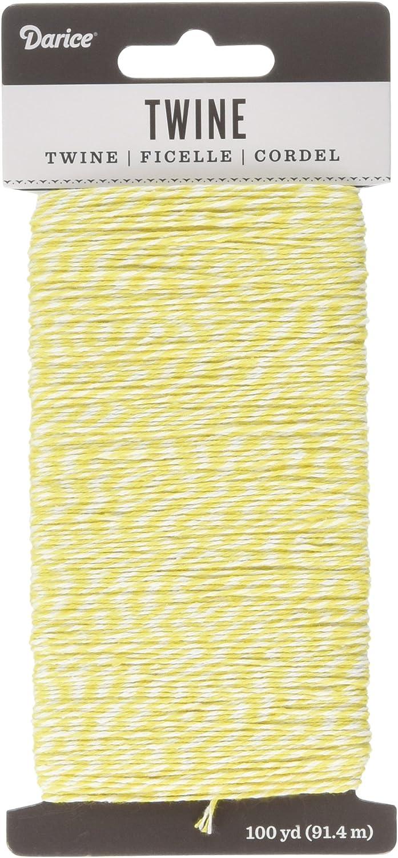 30029482 Darice White and Yellow Twine 100 Yard